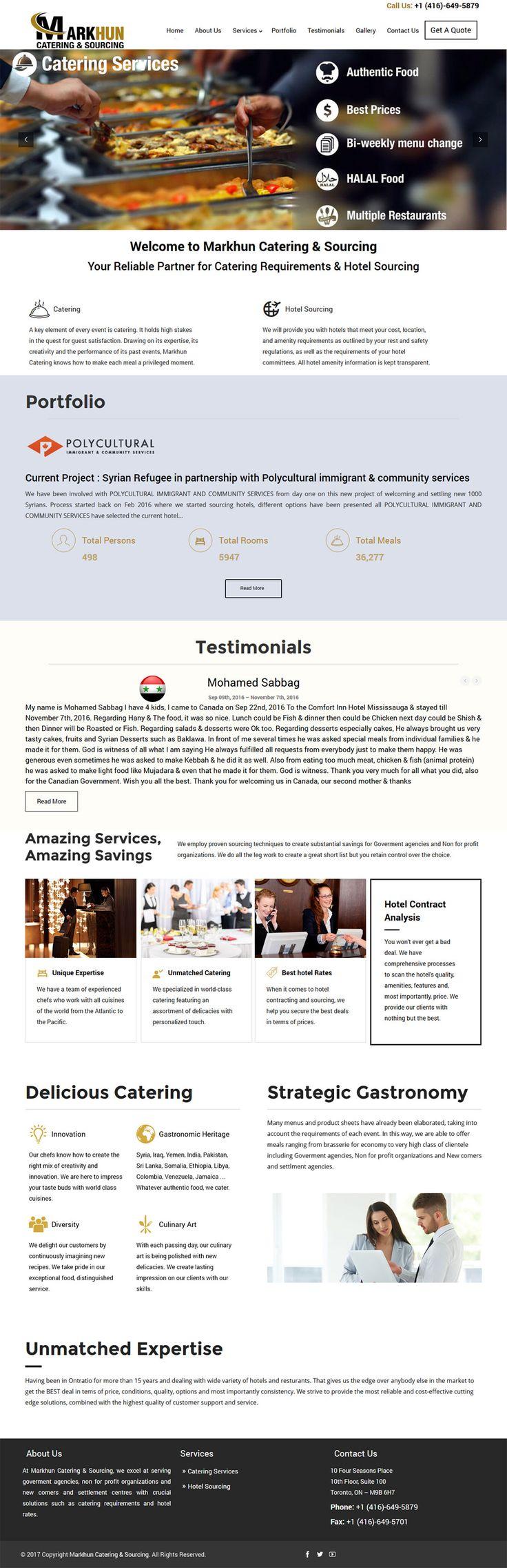 Checkout #latest #WordPress #websitedesign #portfolio #MarkhunCatering #mississauga #ontario #canada