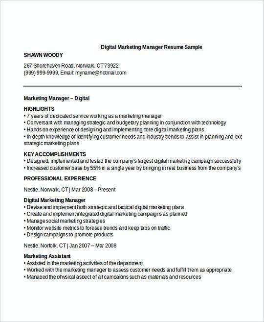 The 25+ best Marketing resume ideas on Pinterest Resume, Resume - marketing resume template