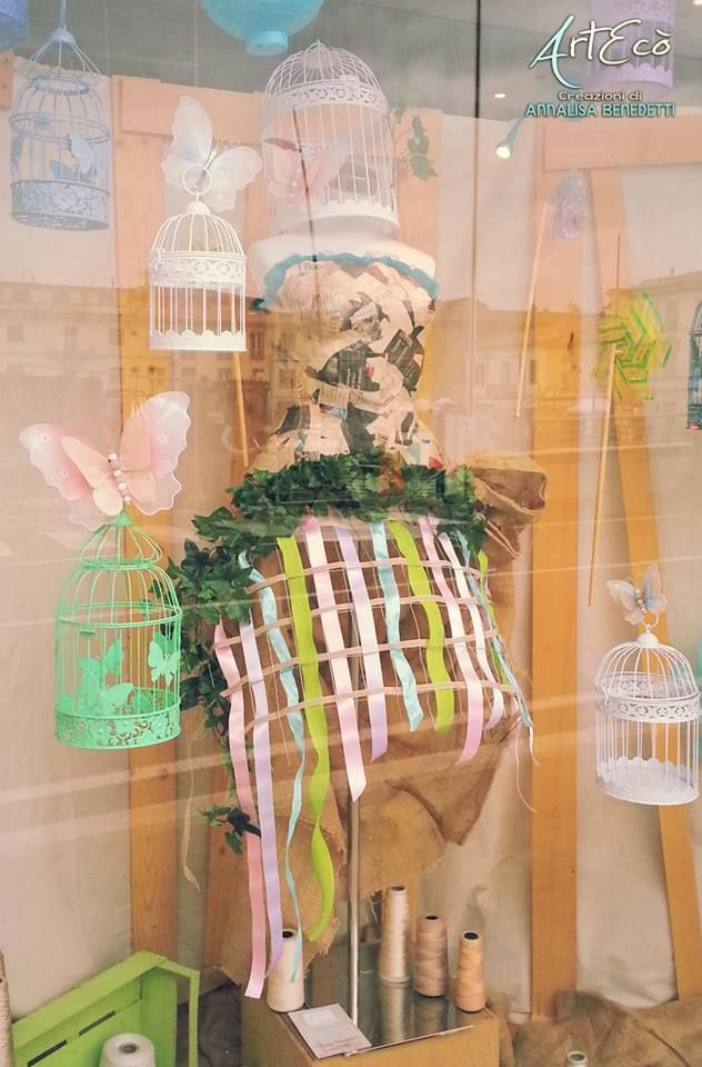 It's Springtime! - by ArtEcò Creazioni di Annalisa Benedetti CAGE CRINOLINE ART #artecocreazioni #annalisabenedetti #style #stylist #handmade #madeinitaly #cage #crinoline #panier #art #creative #fantasy  #cartapesta #colors #spring #costume #theater #photo