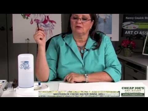 How to Paint a Dog's Face with Watercolor Artist Nancy Couick-Part 1 - YouTube