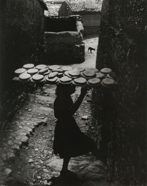 w. eugene smith, spanish village - bread, 1950