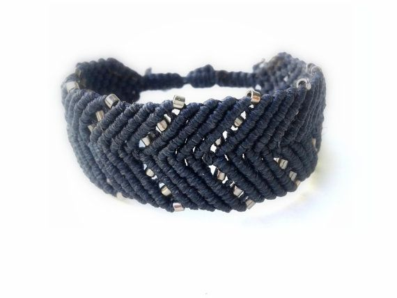 Check out this item in my Etsy shop https://www.etsy.com/listing/210790458/cuff-arrow-macrame-bracelet-gray-waxed