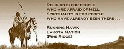 Religion is for people who are afraid of Hell. Spirituality is for ...