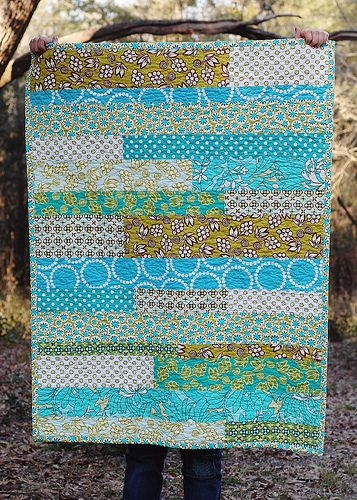 Strip pieced baby quilt by naturemomm, via Flickr: Quilting Ideas, Beautiful Quilts, Baby Quilts, Strip Quilt, Baby Ideas, Pieced Baby, Fabric Quilts Crafts, Photo