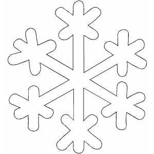 Snowflake pattern - gabarits de flocon neige