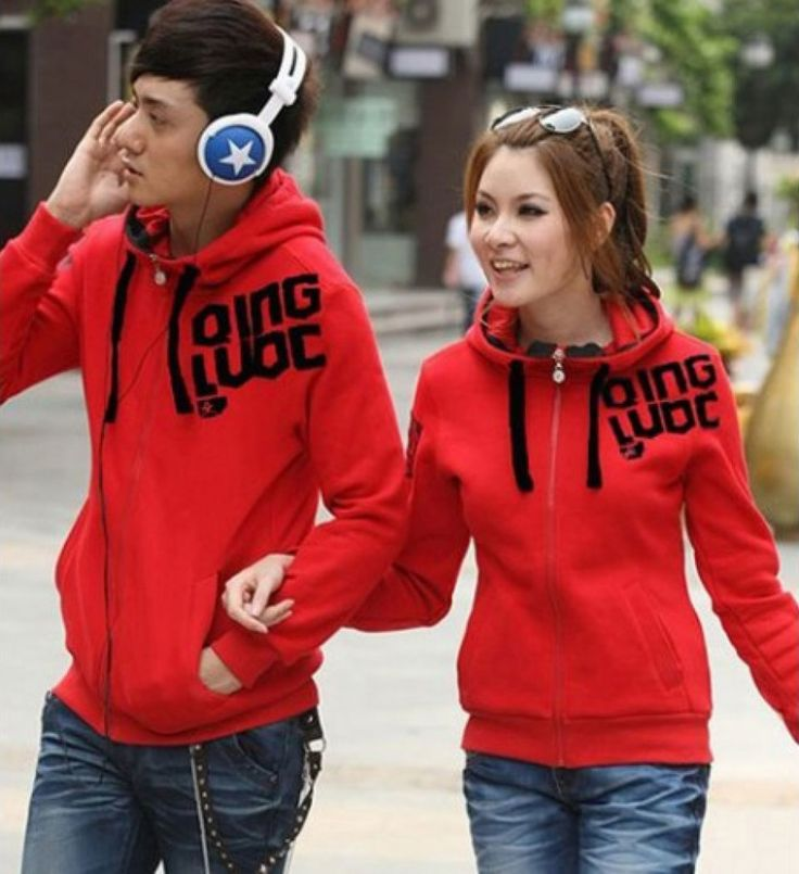 jaket couple qing merah