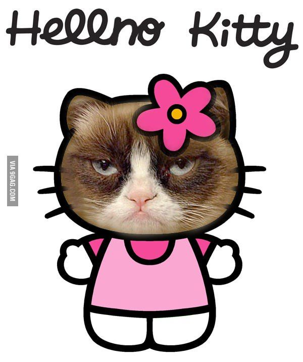 Hell No Kitty #GrumpyCat LOL! Grumpy Cat (@GrumpyCatMerch) | Twitter