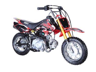 "DIR001 70cc Dirt Bike Free Shipping, Semi Automatic Transmission, Front/Rear Drum Brakes, 10"" Wheels $579.00"
