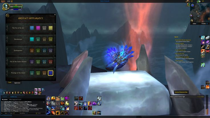 So I have not unlocked the Elemental Shaman hidden artifact appearance but I have the final one? Can someone explain this? #worldofwarcraft #blizzard #Hearthstone #wow #Warcraft #BlizzardCS #gaming