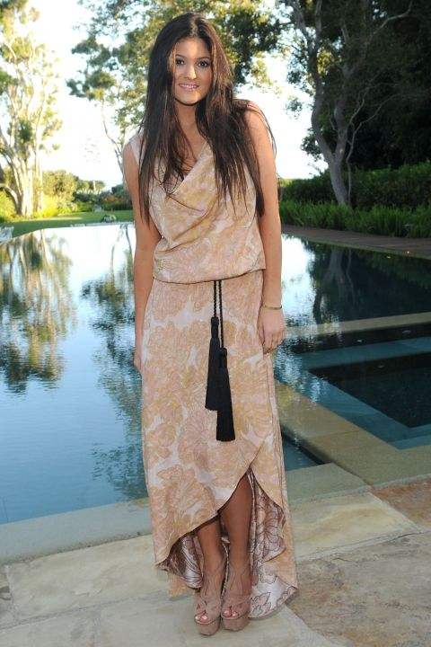 Kylie Jenner Goes For A Summery Look At Kim And Kris Humphries' Pre-Wedding Dinner In California, 2011