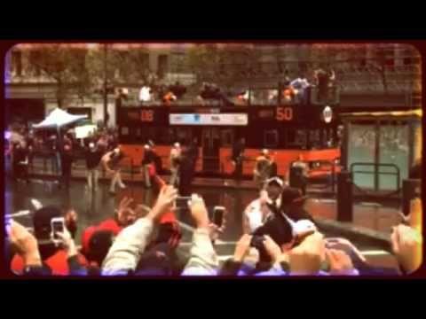 Celebrating the 2014 World Series Winners the San Francisco Giants - YouTube