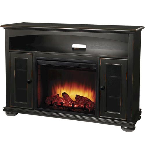 Easton Aged Black Media Electric Fireplace w/ Remote at Menards - 25+ Best Ideas About Menards Electric Fireplace On Pinterest
