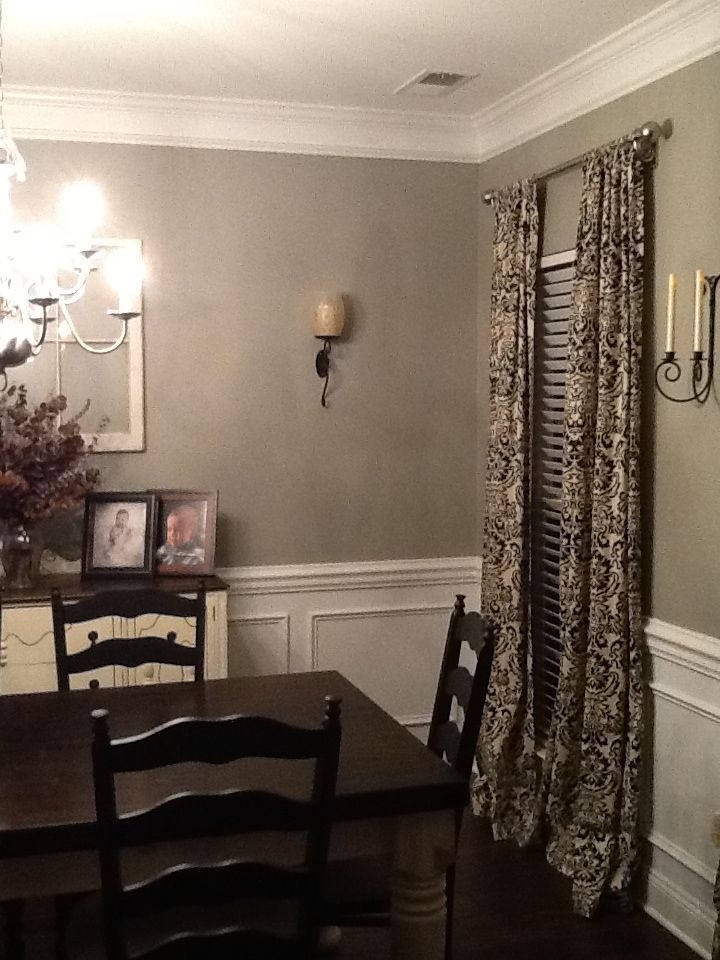 Glidden Paint Wood Smoke Dining Room Love This So Love The Molding On The Bottom Paint