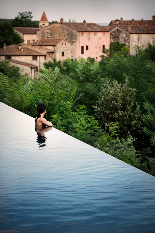 Il Borro. Hotel and restaurant in a village. Italy, San Giustino Valdarno. Unique in the world: In this superb 700 hectare Tuscan estate, time would appear to have stood still. #relaischateaux #ilborro #tuscan #italy #italia #swimmingpool