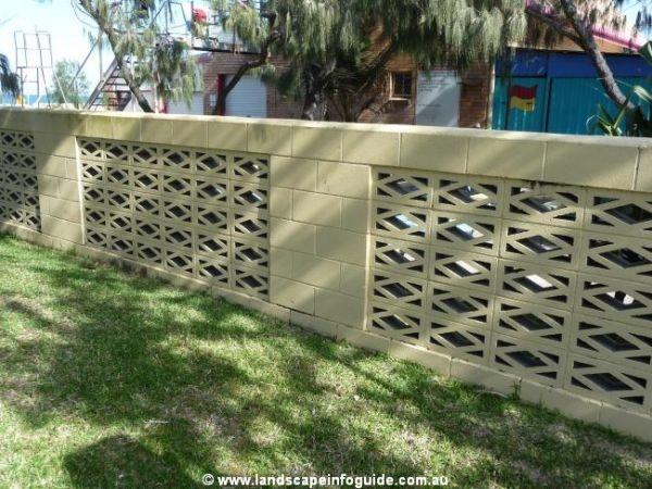 Breeze block fence