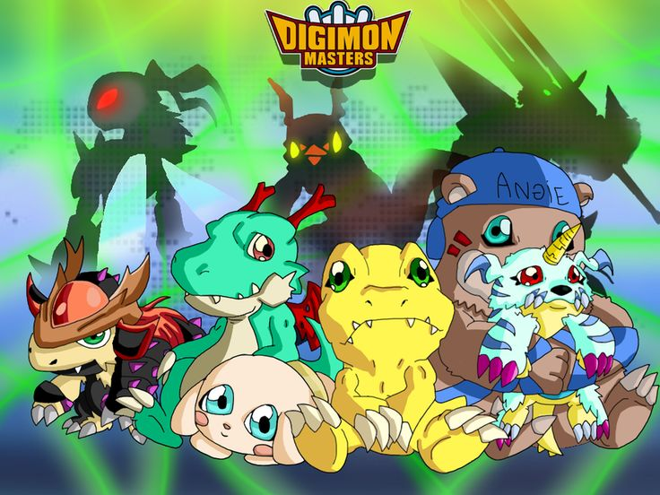 Digimon Masters Friends by ~SparkusThunderbolt on deviantART