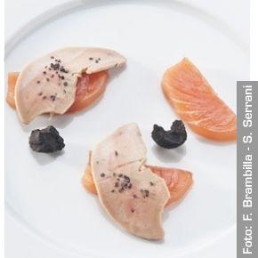 Salmone marinato e foie gras - Chef Matteo Baronetto e Carlo Cracco