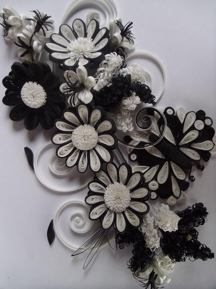 Black And White Precious Quilling Pinterest Quilling