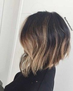 Trendy Balayage Inverted Bob Hairstyle