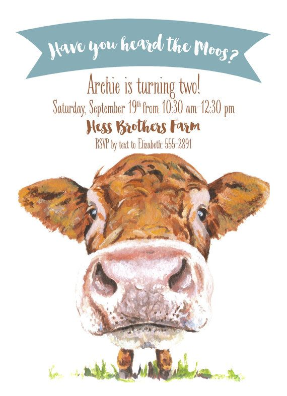Have You Heard the Moos Cow Barn Farm Birthday by PenandParcel