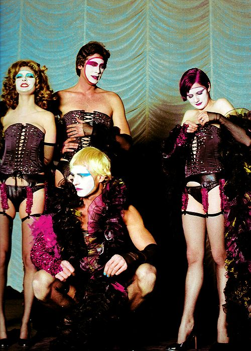 Susan Sarandon, Barry Bostwick, Peter Hinwood and Nell Campbell. The Rocky Horror Picture Show (1975, Jim Sharman).
