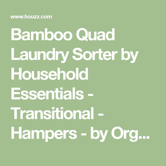 Bamboo Quad Laundry Sorter by Household Essentials - Transitional - Hampers - by Organize