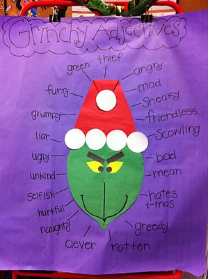 December activities- The Grinch, Reindeer