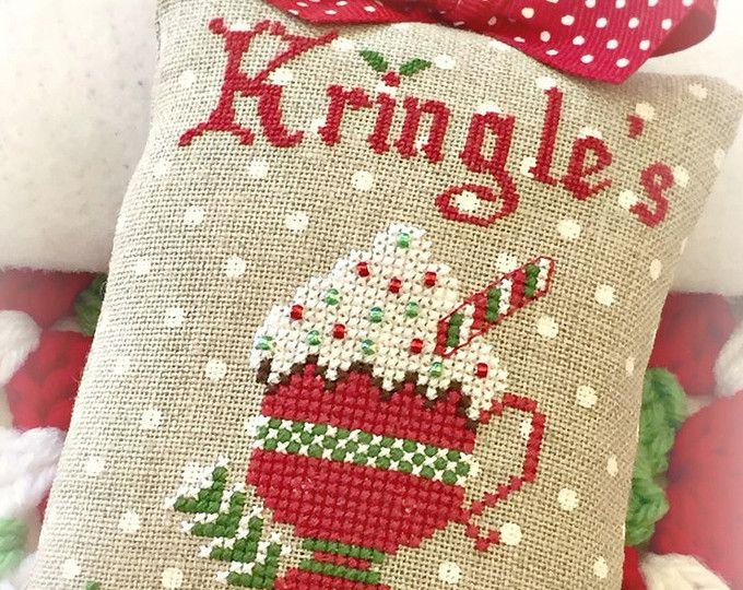 Kringle's Hot Cocoa Christmas Cross Stitch PDF Digital Pattern