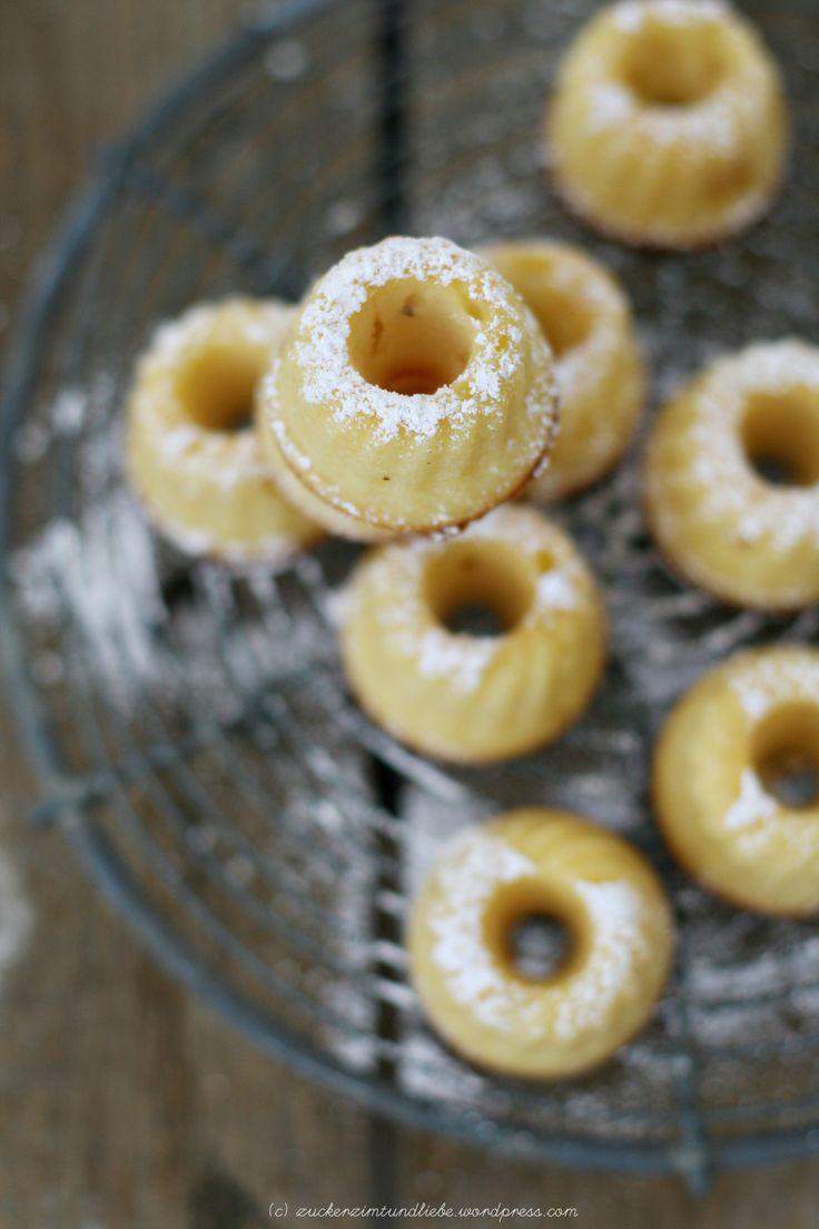 """Miniatur Orange-Ricotta-Gugelhupf – kleine süße italienische Dinger """"Torta della Nonna"""" style « Zucker, Zimt und Liebe"""