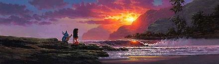 Lilo and Stitch - A Song at Sunset - Rodel Gonzalez - World-Wide-Art.com - $995.00 #Disney #RodelGonzalez