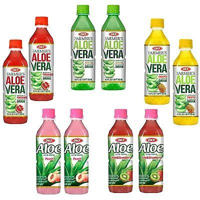 Fruit Juices 179176: Okf Farmers Aloe Vera Drink And Aloe Drink Flavored Variety Pack - Original, Po... -> BUY IT NOW ONLY: $31.48 on eBay!