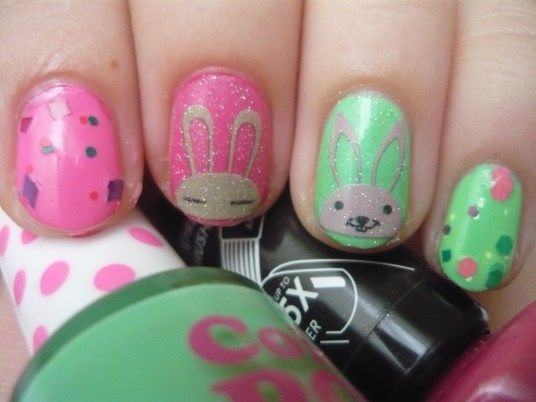 Nail Of The Day - Fun and Bunnies