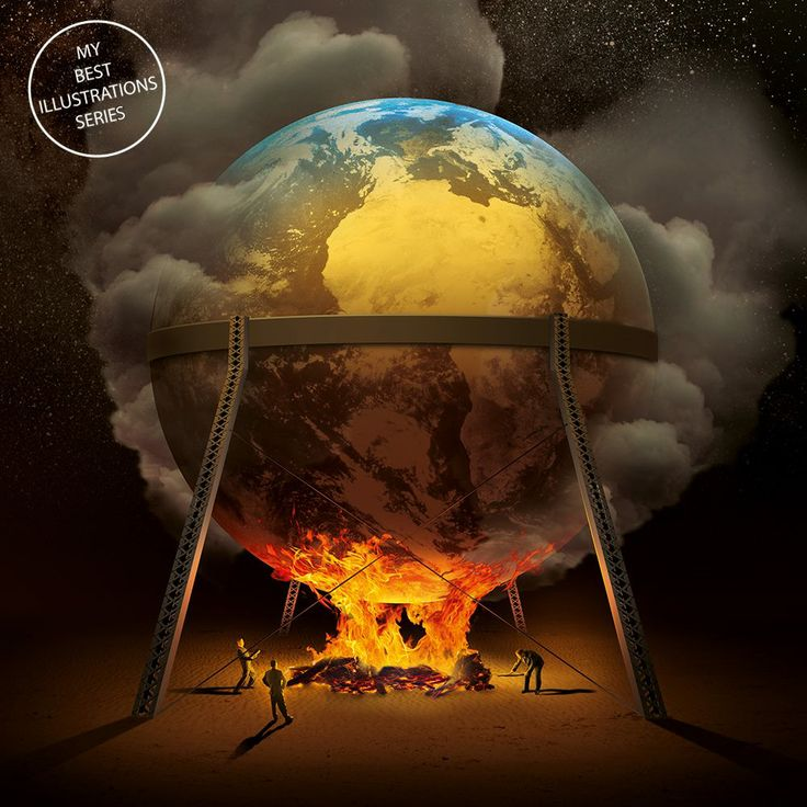 """The illustration made for the magazine """"Charaktery"""" dedicated to the issue of """"the Earth Warming """".............PZRTZGE OF IGOR MORSKI...........ON HIS FACEBOOK................"""