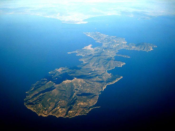 Isola d'Elba visita  dall'alto