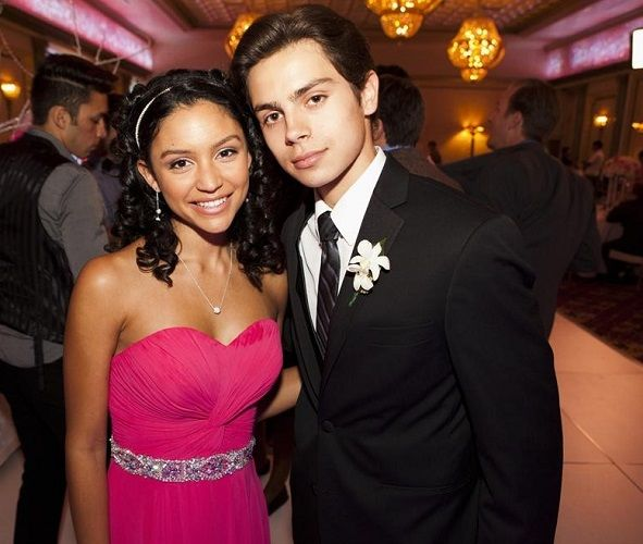 Jake T. Austin with The Fosters' co-star, Bianca Alexa Santos...