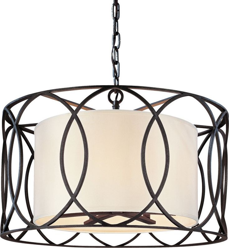 View the Troy Lighting F1285 Sausalito 5 Light Drum Pendant with Fabric Shade at LightingDirect.com.
