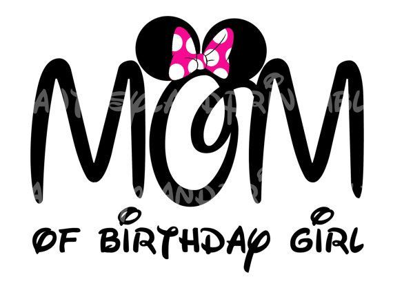 Mom of Birthday girl Pink bow Minnie Mouse Mickey Mouse DIY ...