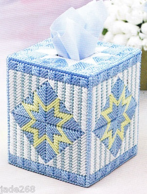 Pastel Patchwork Tissue Cover Quilt Style Plastic Canvas Pattern | eBay