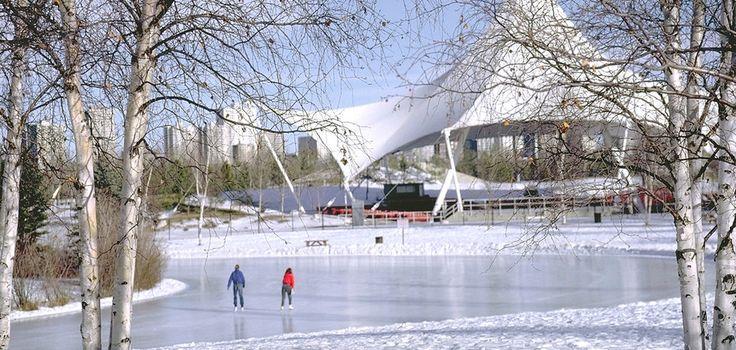 Skating at Hawrelak Park Edmonton