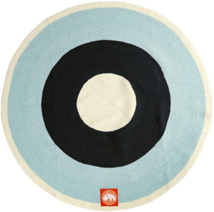 Teppich rund Blau Done by Deer Kleine Fabriek (mit