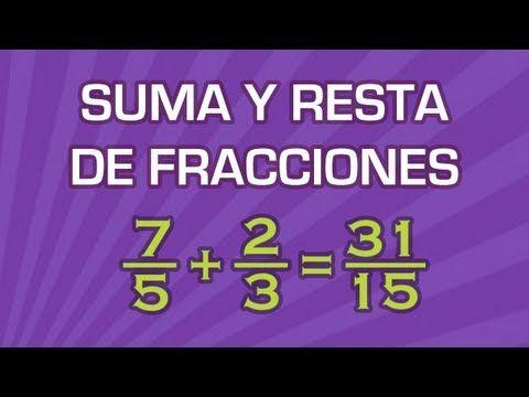 Suma y Resta de Fracciones con Diferente Denominador - Aritmética - Educatina - YouTube
