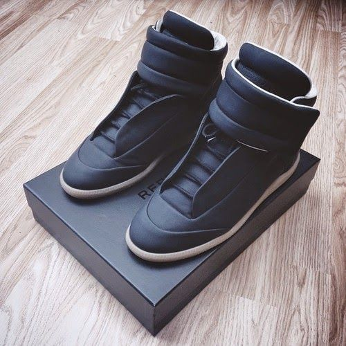MAISON MARTIN MARGIELA Black Future Sneakers | 2015 Collection Online | Givenchy, Saint Laurent, Giuseppe Zanotti, Balmain | SPENT MY DOLLARS | 2015 Fashion,Shoes,Bags