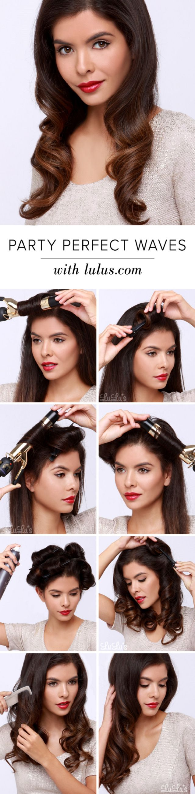 Party Perfect Waves Tutorial | 12 Party Perfect Beauty Tutorials That'll Make You Sparkle http://www.jexshop.com/