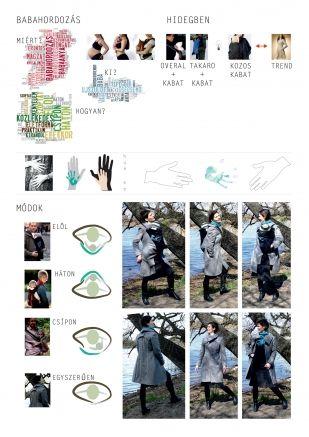 Tanulmány babahordozós kabáthoz - MOME 2013