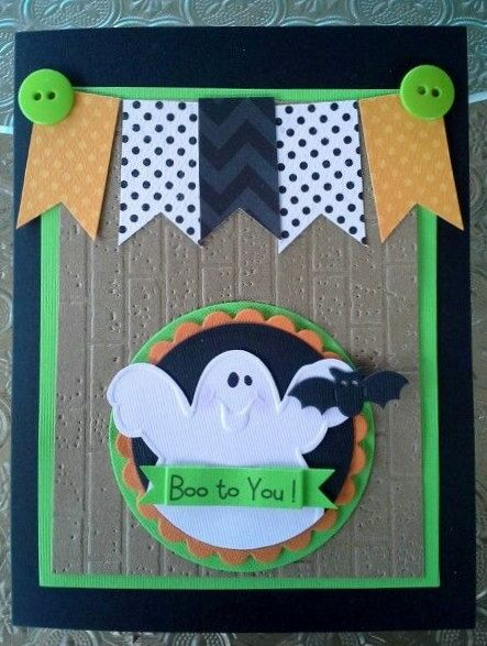 Halloween Card Halloween ghost Card Ghost by chucklesandcharms, $4.00
