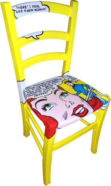 sedia dipinta Heaven 2