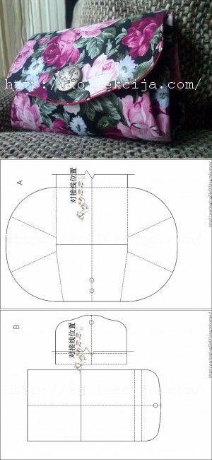 Выкройка кошелька из джинс - Пенал