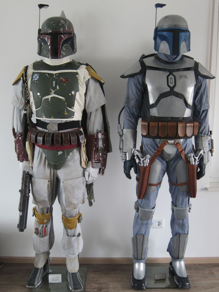 Boba Fett (son, clone not behaviorally modified) and Jango Fett (father, man who storm troopers were cloned after)