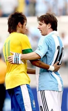 Neymar Jr Lionel Messi, both Skillfull Player and Rissing Star