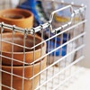 Love the wire baskets to organize stuff on gargage shelves